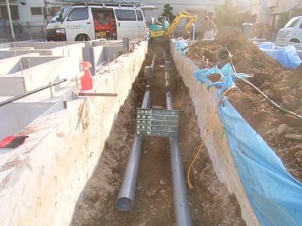 木造構造物の給排水衛生設備工事