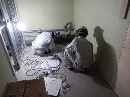 耐火構造物の給排水衛生・換気空調消火設備工事